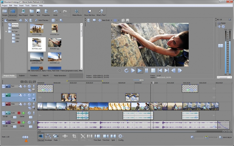 المونتاج الفيديو MAGIX Movie Studio Platinum 13.0 Build 2016 f80d794e2b57129f246e