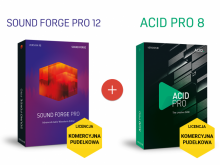 Sound Forge Pro 12 + ACID Pro 8 (licencja pudełkowa, komercyjna)