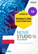 Vegas Movie Studio 16 Platinum PL (licencja elektroniczna, edukacyjna)