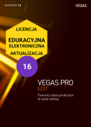 Vegas Pro 16 EDIT (elektroniczna, edukacyjna, aktualizacja)