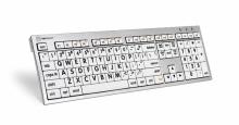 Klawiatura MAC XL Print duże znaki + oświetlenie LogicLight (US, ALBA) LKBU-LPRNTBW-CWMU-US