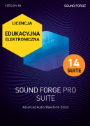 Sound Forge Pro 14 Suite (licencja elektroniczna, edukacyjna)