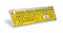Klawiatura MAC XL Print duże znaki + oświetlenie LogicLight (US, ALBA) LKBU-LPRNTBY-CWMU-US