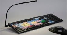 Klawiatura PC dla AVID Media Composer + oświetlenie LogicLight (US, NERO) LKBU-MCOM4-BJPU-US