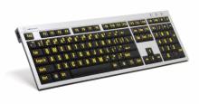 Klawiatura PC XL Print duże znaki + oświetlenie LogicLight (US, Slim Line) LKBU-LPRNTYB-AJPU-US