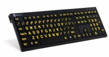 Klawiatura PC XL Print duże znaki + oświetlenie LogicLight (US, NERO) LKBU-LPYB-BJPU-US