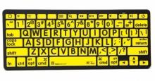Klawiatura MAC Bluetooth XL Print Logickeyboard (typ: US, czarne znaki / żółte tło) LKBU-LPBY-BTON-US