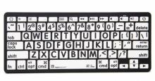 Klawiatura MAC Bluetooth XL Print Logickeyboard (typ: US, czarne znaki / białe tło) LKBU-LPBW-BTON-US