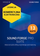 Sound Forge Pro 13 Suite (licencja elektroniczna, komercyjna)