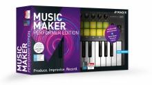 MAGIX Music Maker Performer Edition (Music Maker Premium Edition + Novation Launchkey Mini Mk2, wersja pudełkowa, licencja komercyjna)