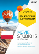 Vegas Movie Studio 15 Platinum PL (licencja elektroniczna, edukacyjna)