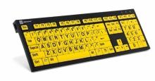 Klawiatura PC XL Print duże znaki + oświetlenie LogicLight (US, NERO) LKBU-LPBY-BJPU-US