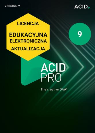 ACID Pro 9 (licencja elektroniczna, edukacyjna, aktualizacja)