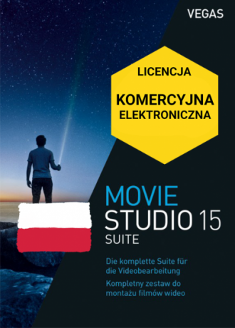 Vegas Movie Studio 15 Suite PL (licencja elektroniczna, komercyjna)