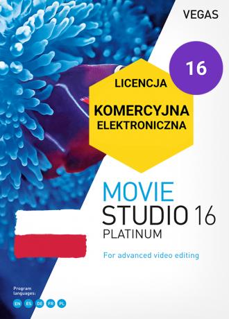 Vegas Movie Studio 16 Platinum PL (licencja elektroniczna, komercyjna)