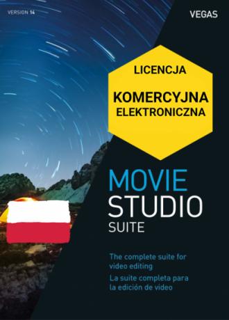 Vegas Movie Studio 14 Suite PL (licencja elektroniczna, komercyjna)