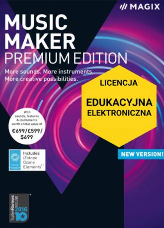 MAGIX Music Maker Premium Edition (licencja elektroniczna, edukacyjna)