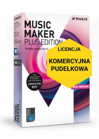 MAGIX Music Maker Plus Edition (wersja pudełkowa, licencja komercyjna)