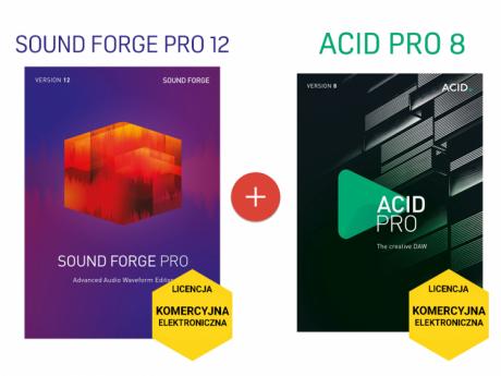 Sound Forge Pro 12 + ACID Pro 8 (licencja elektroniczna, komercyjna)