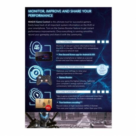 MAGIX Game Control (wersja pudełkowa, licencja komercyjna)