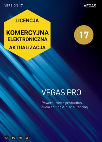 Vegas Pro 17 (elektroniczna, komercyjna, aktualizacja)