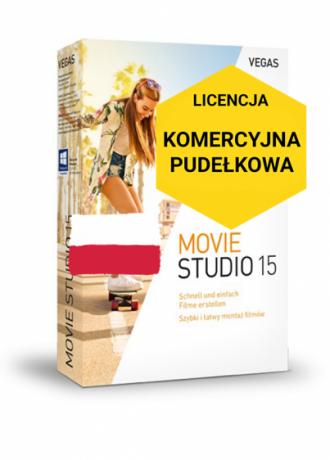 Vegas Movie Studio 15 PL (licencja pudełkowa, komercyjna)