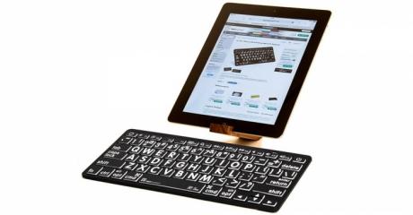 Klawiatura MAC Bluetooth XL Print Logickeyboard (typ: US, białe znaki / czarne tło) LKBU-LPWB-BTON-US