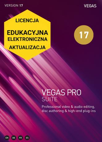 Vegas Pro 17 SUITE (elektroniczna, edukacyjna, aktualizacja)