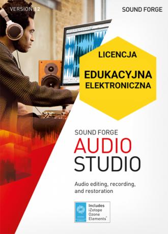 Sound Forge Audio Studio 12 (licencja elektroniczna, edukacyjna)
