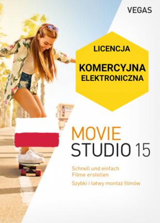 Vegas Movie Studio 15 PL (licencja eletroniczna, komercyjna)