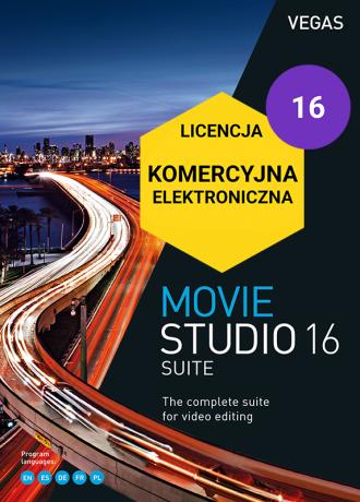 Vegas Movie Studio 16 Suite PL (licencja elektroniczna, komercyjna)