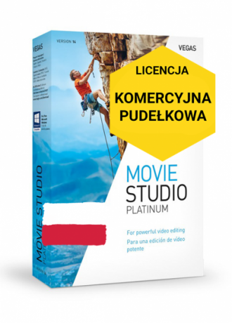Vegas Movie Studio 14 Platinum PL (licencja pudełkowa, komercyjna)