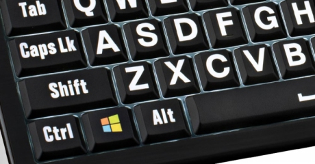 Klawiatura PC XL Print duże znaki z podświetleniem (US, Astra) LKBU-LPWB-APBH-US