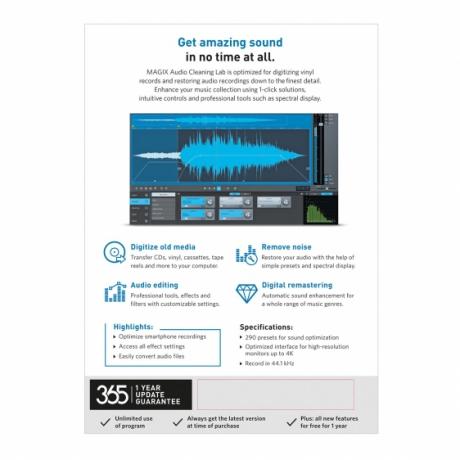 MAGIX Audio Cleaning Lab (wersja pudełkowa, licencja komercyjna)