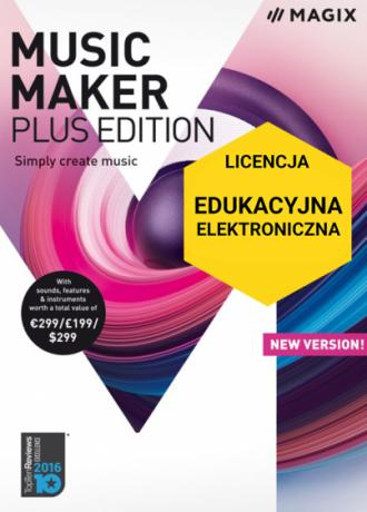 MAGIX Music Maker Plus Edition (licencja elektroniczna, edukacyjna)