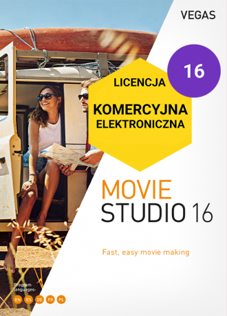 Vegas Movie Studio 16 PL (licencja eletroniczna, komercyjna)